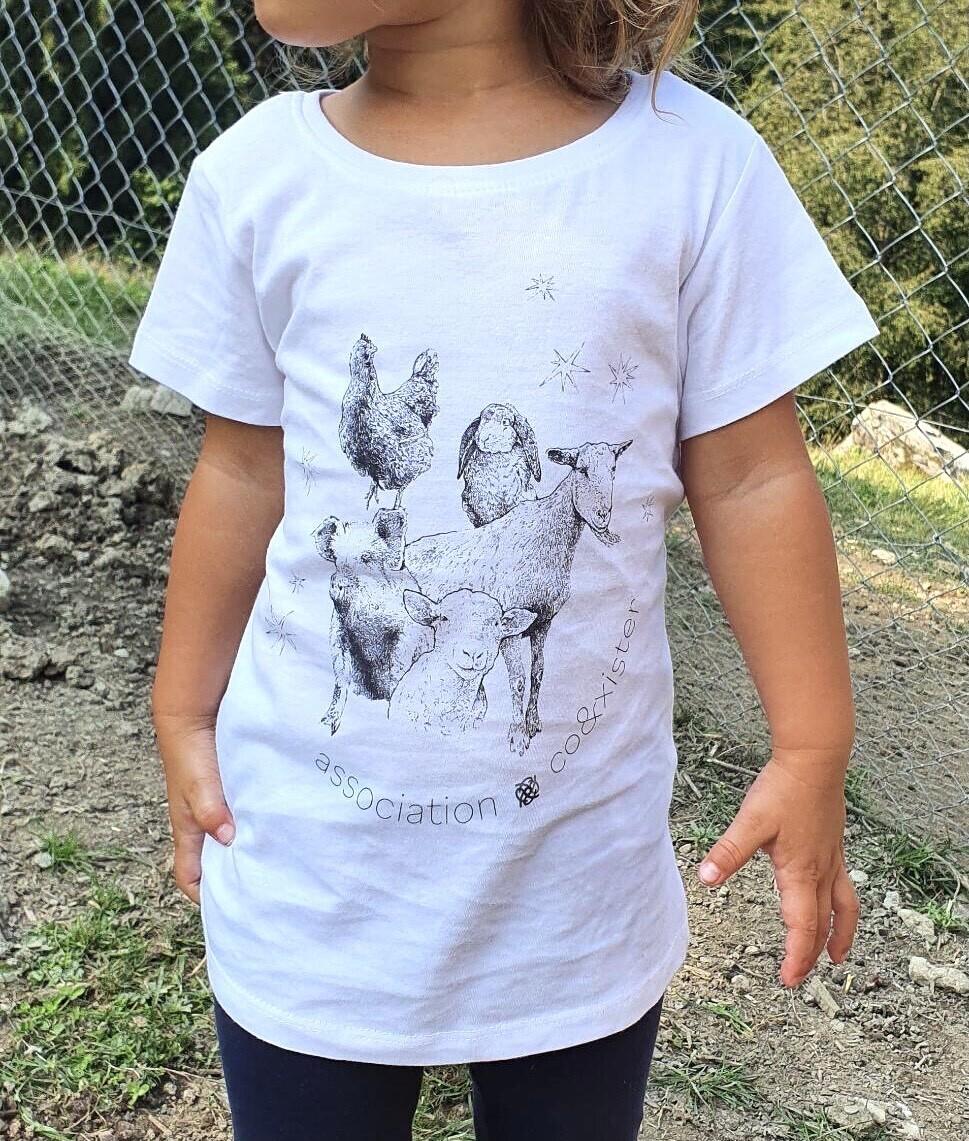 """T-shirt pour enfants """"Coexistence"""" - coupe fille"""