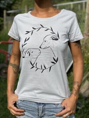T-shirt gris clair Alydhan & Meli - coupe féminine