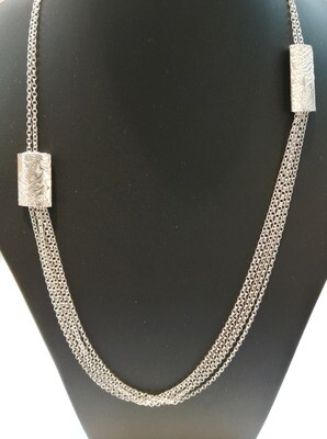 Long panel necklace