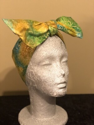 Tiara - Green Yellow Metallic Swirl