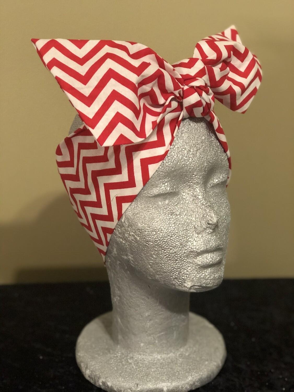 Tiara - Red / White Stripe