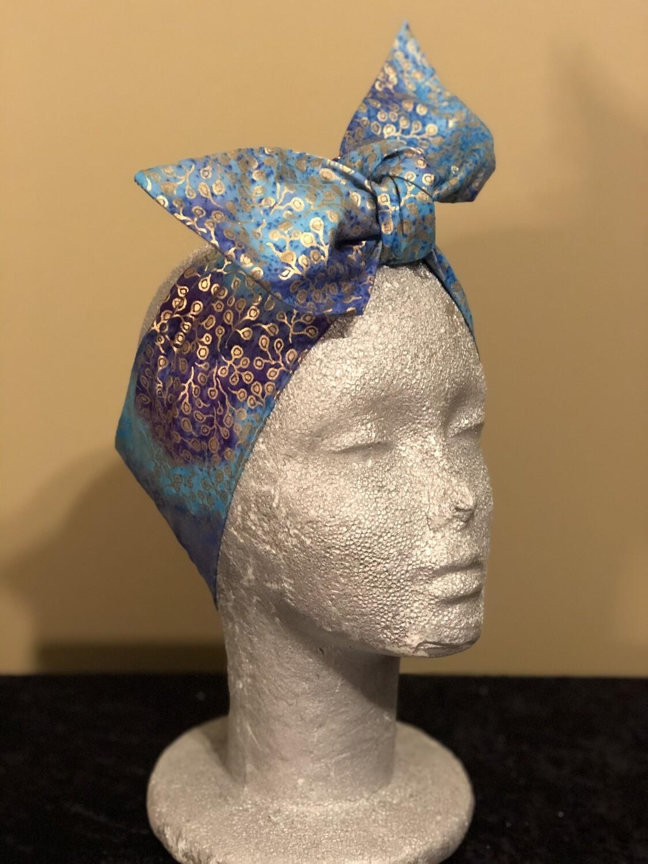 Tiara Blue Purple Metallic Swirl
