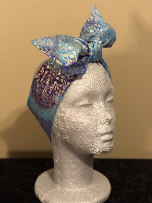 Tiara Blue Purple Metallic Swirl