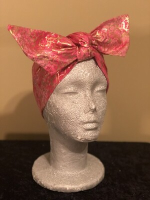 Tiara Pink Metallic Swirl