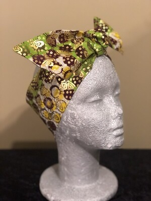 Tiara - Green/Brown Metallic Gold Butterfly