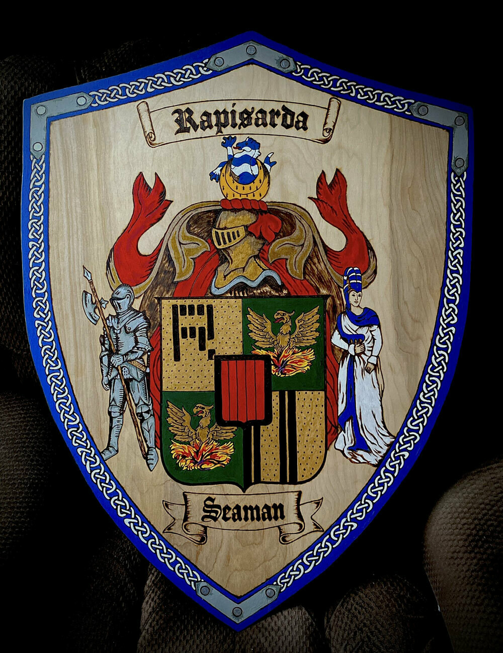 Family Coat of Arms on a Shield