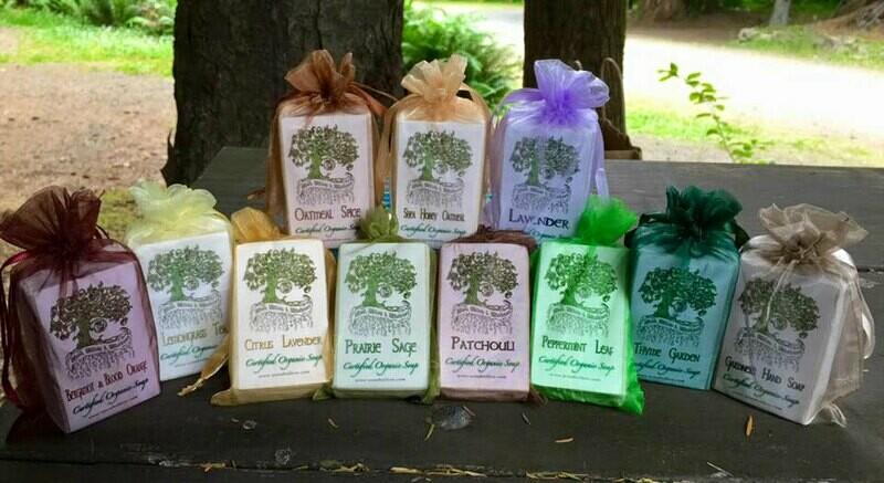 Pack of 4 - Organic Soap - 4 oz Bars