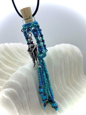 Cathedral Oil Bottle Necklace