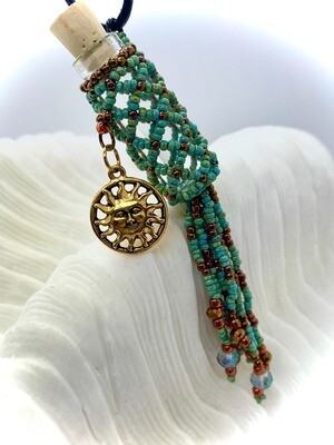 Diamond Weave Oil Bottle Necklace