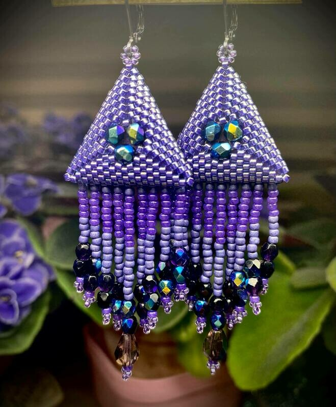 Puffy Triangle Earrings