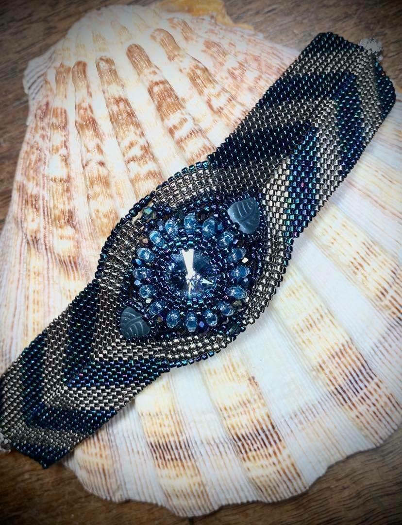 Art Deco Style Beaded Bracelet - One of a Kind