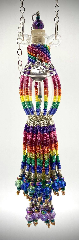 Rainbow Beaded Bottle Half Dram