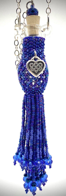 Blue Beaded Bottle