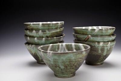 Copper Green Soup Bowl