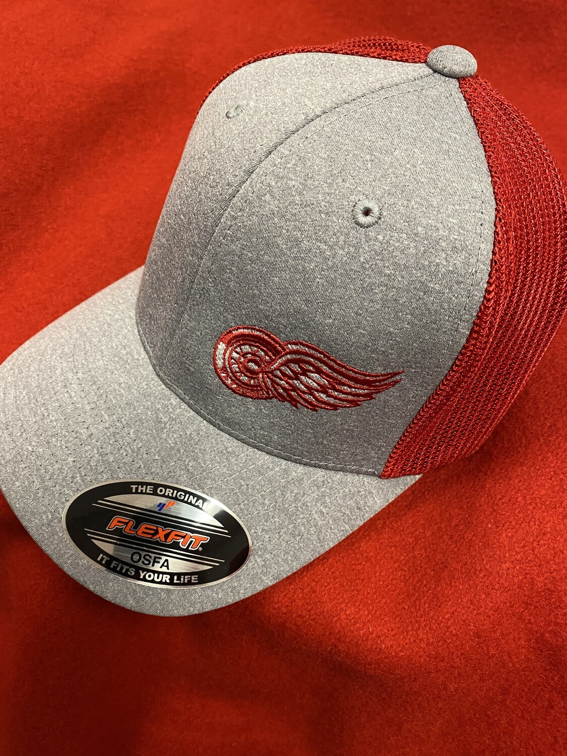 Red Wing Flex Fit Hat Red/Grey