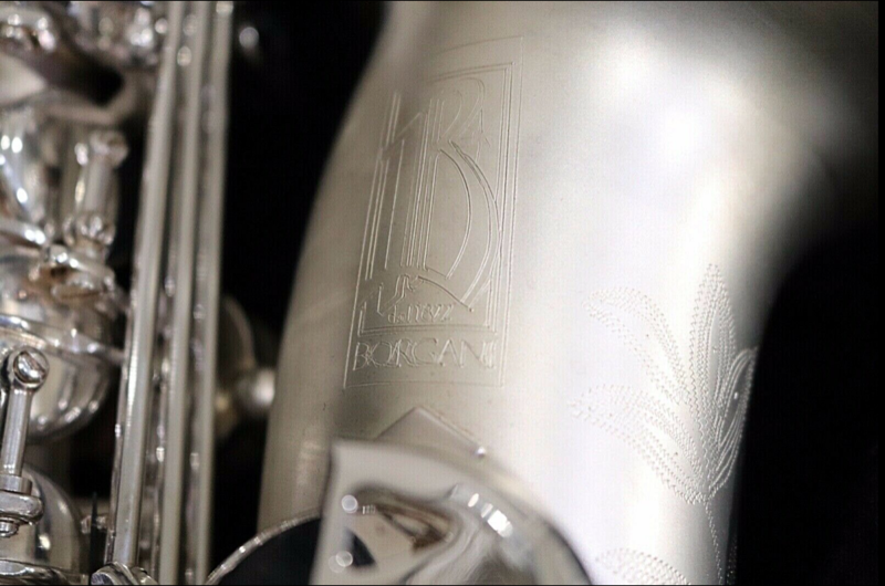 BORGANI Pearl Silver ALTO SAXOPHONE | Made in Italy Incredible Sound With Original BAM Case