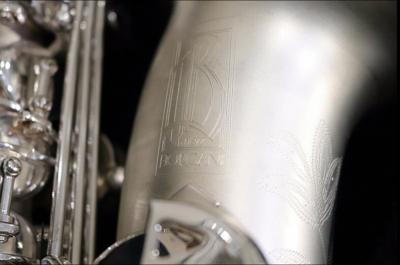 BORGANI Pearl Silver ALTO SAXOPHONE | Made in Italy Incredible Sound With Original BAM Case
