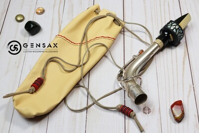 Soft Leather In Bell Saxophone Neck Pouch Case