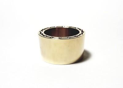 """REBEL"" Alto Saxophone Clarinet Ligature | Heavy Mass Ring Ligature | Solid Bronze"
