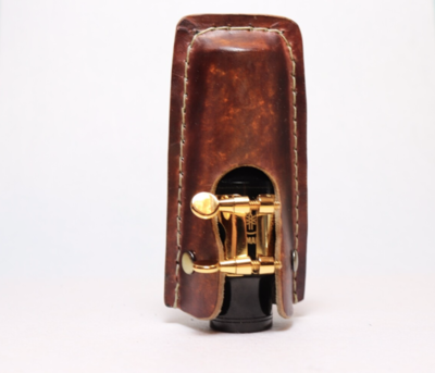 Alto Saxophone Mouthpiece Cap | Leather New Design Custom Made Personalized Gift For Sax Player | Whiskey Tan