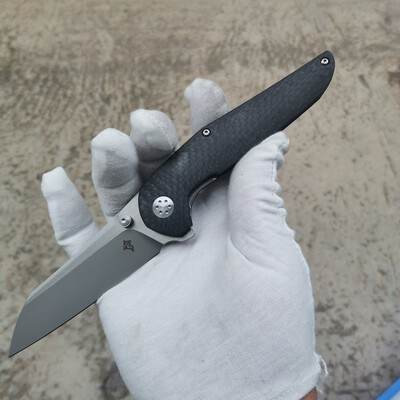 Progeny V2 Carbon Fiber with Stonewashed and Stain Flats M390