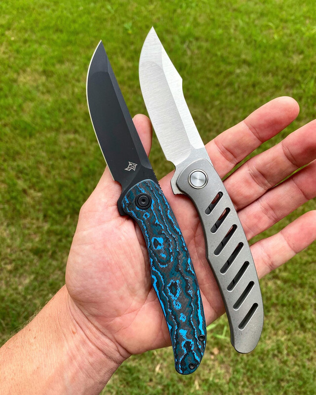 Xerx Integral Blasted and Stonewashed Titanium with Satin Hollow Ground Blade (No Milled Holes)
