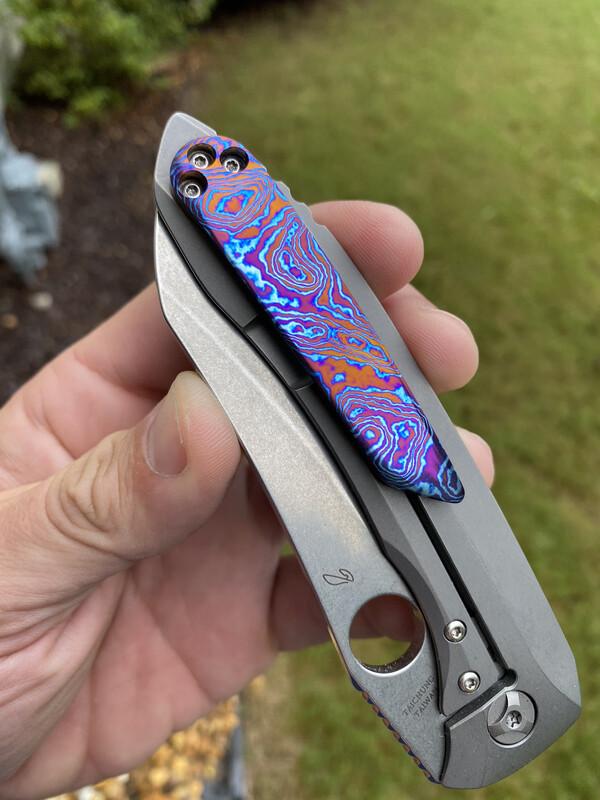 Custom Timascus Paysan Clip