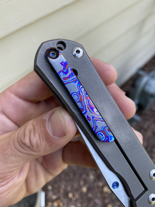 Custom Sebenza/ Inkosi Timascus Clip