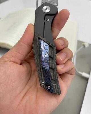 Primordial MK3 Zirc Timascus Backspacer and Pocket Clip Kit