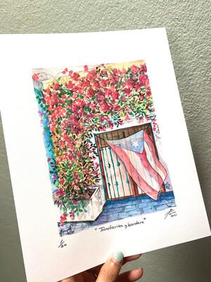 """""""Print"""" Trinitarias y bandera"""