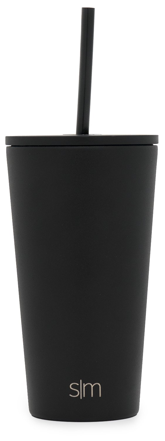 Travel Mug Gift Vacuum Insulated Coffee Beer Pint Cup Simple Modern 28oz Classic Tumbler with Straw Lid /& Flip Lid Midnight Black 18//8 Stainless Steel Water Bottle