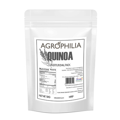 AGROPHILIA White Quinoa INSTITUTIONAL Pack 5 Kg