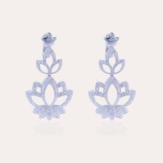 Lotus Earrings White Gold & Diamond