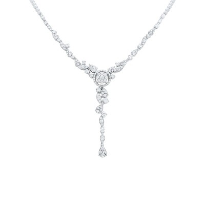 Bridal White Gold Diamond Necklace