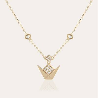 Emblem Pendant Gold & Diamond