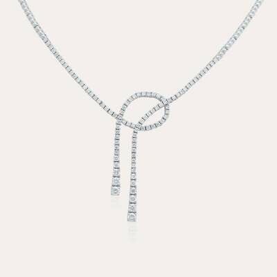 Bridal White Diamond Necklace