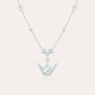 Emblem Pendant White Gold Diamond