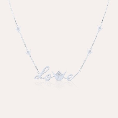 Love Pendant White Gold Diamond