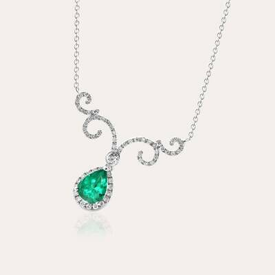 Classic Pendant Diamond & Emerald