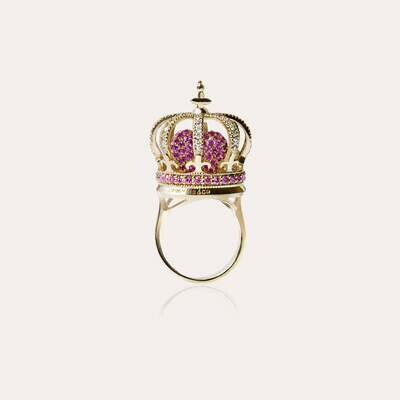 Crown Ring Diamond & Precious Stones