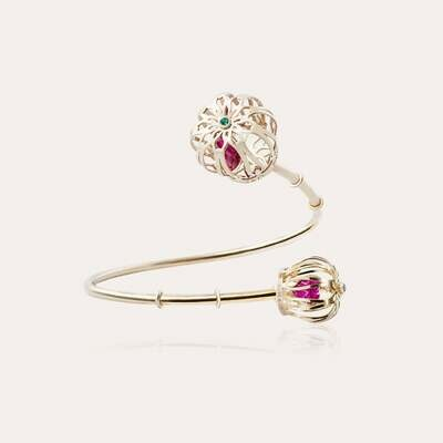Crown Bracelet Gold & Semi Precious