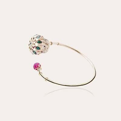 Crown Gold Bangle & Semi Precious
