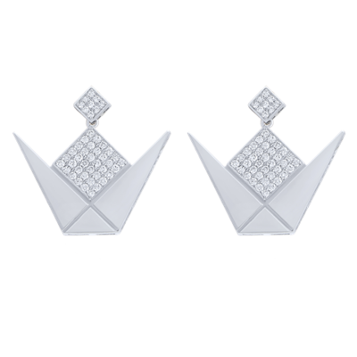 Earrings Emblem White Gold & Diamond