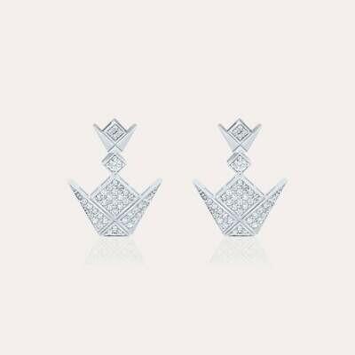 Emblem White Gold Earrings & Diamond