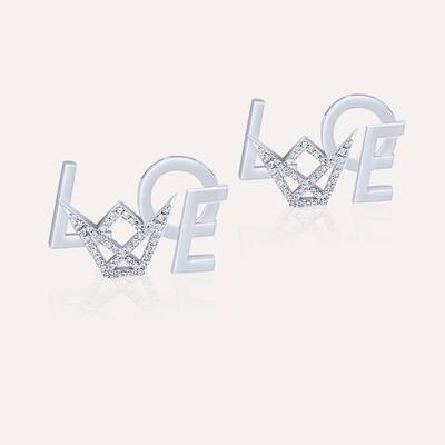 Love Earrings White Gold & Diamond
