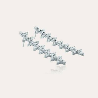 Bridal Earrings White Diamond