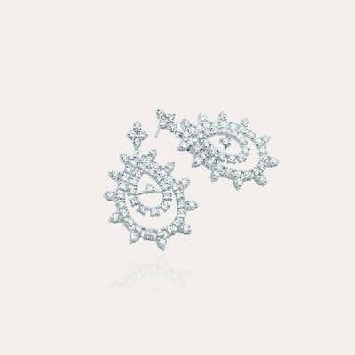 Bridal Earrings Diamond White Gold