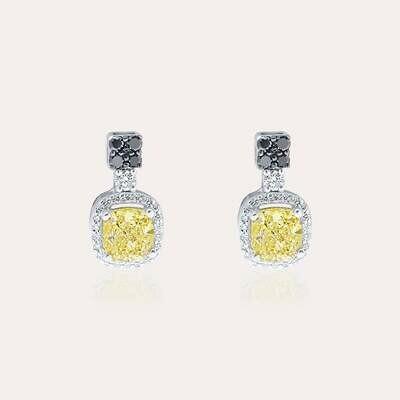 Eternal Earrings With Fancy Black & White Diamond
