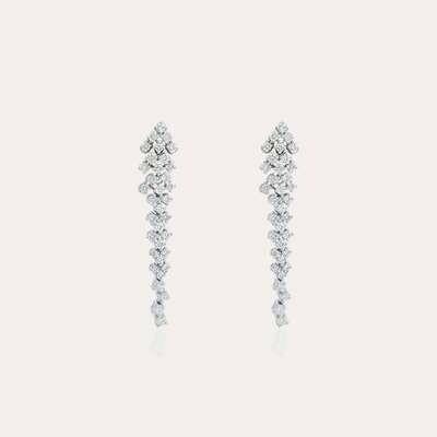 Bridal Earrings Diamond Gold