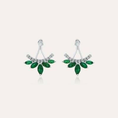Eternal Earrings Diamond & Emerald